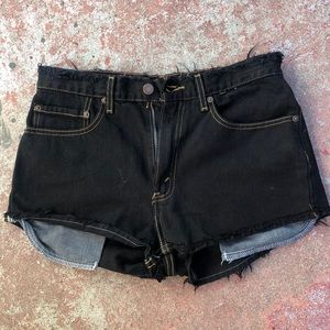 Levi's Signature black Cutoff Jean Shorts 32
